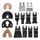 Pukido 14pcs Multitool Saw Blade Accessories kit for Dewalt Fein Multimaster Bosch Makita