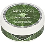 Men Rock Sicilian Lime Shave Cream – Softly Scented Shaving Cream for a Comfortable Shave – Premium Quality Men's Moisturizing Shave Cream for Up to 50 Shaves, 3.4 Oz. / 100ml