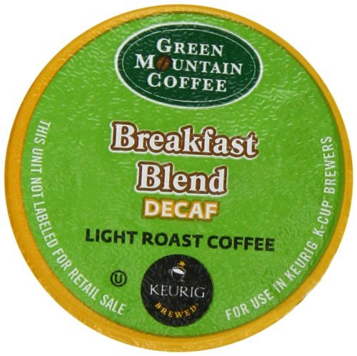 Green Mountain Coffee K-Cup Portion Pack for Keurig K-Cup Brewers, Breakfast Blend Decaf (Pack of 96) (Decaf Breakfast Mountain Green)