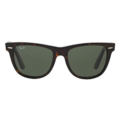 b89aeec571 Amazon.com  Ray-Ban Sunglasses - RB2140 Wayfarer   Frame  Tortoise Lens   Green (54mm)  Shoes