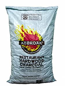 Kebroak KHWC40LB 40-Pound Hardwood Lump Charcoal Bag