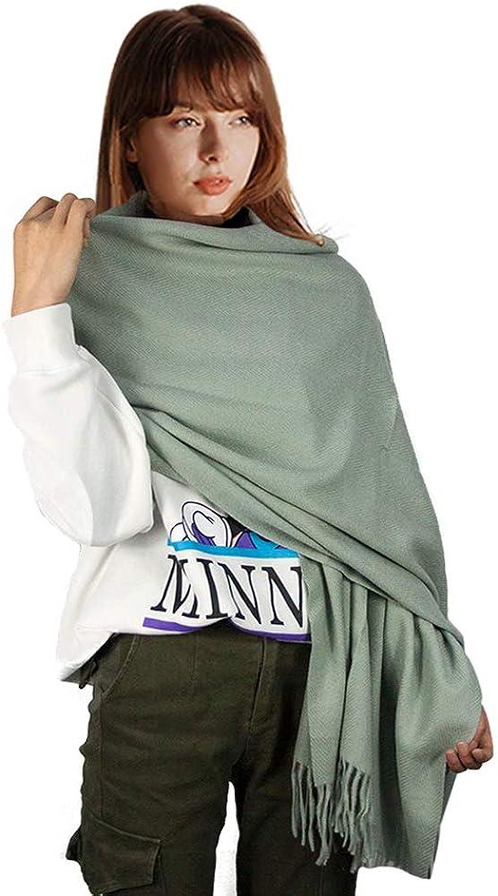Womens Soft Scarf Blanket Large Pashmina Cashmere Shawls Wrap Stole with Tassel