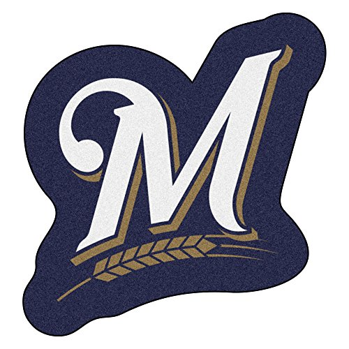 (FANMATS MLB Milwaukee Brewers Mascot Mat, Team Color, One Size )