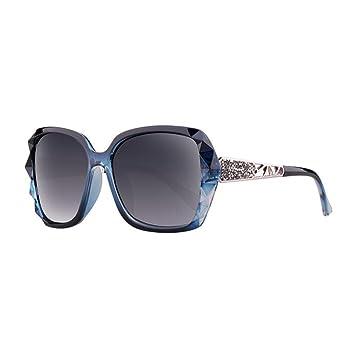 HONEY Gafas De Sol Polarizadas Para Mujer - Incrustaciones De Diamantes Gran Marco De Espejo Protección
