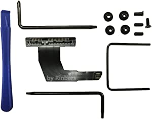 Rinbers Top Hard Disc Drive Flex Cable for Apple Mac Mini A1347 Server 2nd SSD HDD Upgrade Kit 821-1347-A (2014 Till Now) with Tools