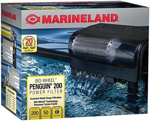 Marineland Penguin Bio-Wheel Power Filter 200 GPH, Multi-Stage aquarium Filtration