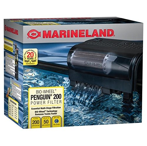 Marineland Penguin 200, Power Filter, 30 to 50-Gallon, 200 GPH (Best Aquarium Filter For 50 Gallon Tank)