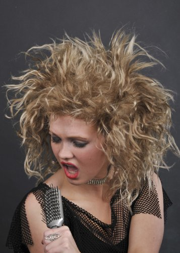 [80's Deluxe Tina Turner Style Fancy Dress Wig] (Tina Turner Wigs)
