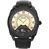 INCHOR Hybrid Smart Watch Stainless Steel with Leather Strap, Heart Rates,Sleep, Blood Pressure Monitor,Calorie Distance Counter Pedometer,Event Vibrates Reminder Fitness Tracker Smartwatch
