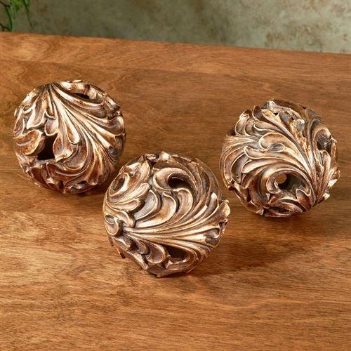 Touch of Class Arabella Orbs Light Bronze Set of Three