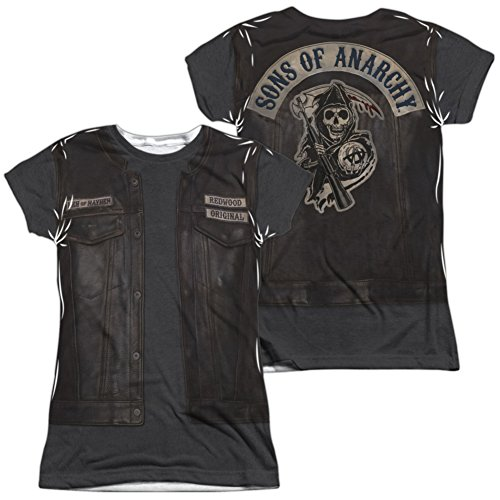 Sons Of Anarchy Women Costume (Juniors: Sons Of Anarchy- Juice Costume Tee (Front/Back) Juniors (Slim) T-Shirt Size XXL)