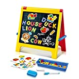 Creative Foldable Children Black/ White Double Sided Drawing Board with Magnetic Alphabet for 3 Years Old Kids