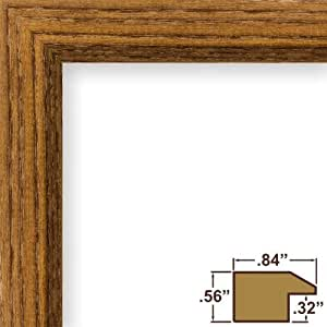 Craig Frames 8261610 Real Wood Grain Finish 11 by 19-Inch Picture/Poster Frame, 0.84-Inch Wide, Rich Brown by Craig Frames
