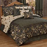 Browning Whitetails - 9 Piece Queen Comforter Set (1 Comforter, 1 Flat Sheet, 1 Fitted Sheet, 2 Pillow Cases, 2 Shams, 1 Bedskirt, 1 Square Accent Pillow) SAVE BIG ON BUNDLING!
