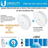 Ubiquiti PBE-M5-300-ISO (2Pack) PRE-CONF 5GHz PowerBeam 300mm Isolated Reflector