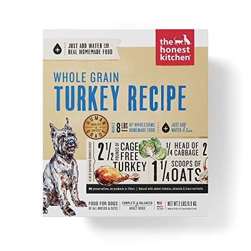 Honest Kitchen Human Grade Dehydrated Organic Grain Turkey Dog Food 2 lb - Keen]()
