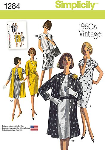 - SIMPLICITY US1284R5 Misses' 1960's Vintage Dress Coat and Vest Sewing Template