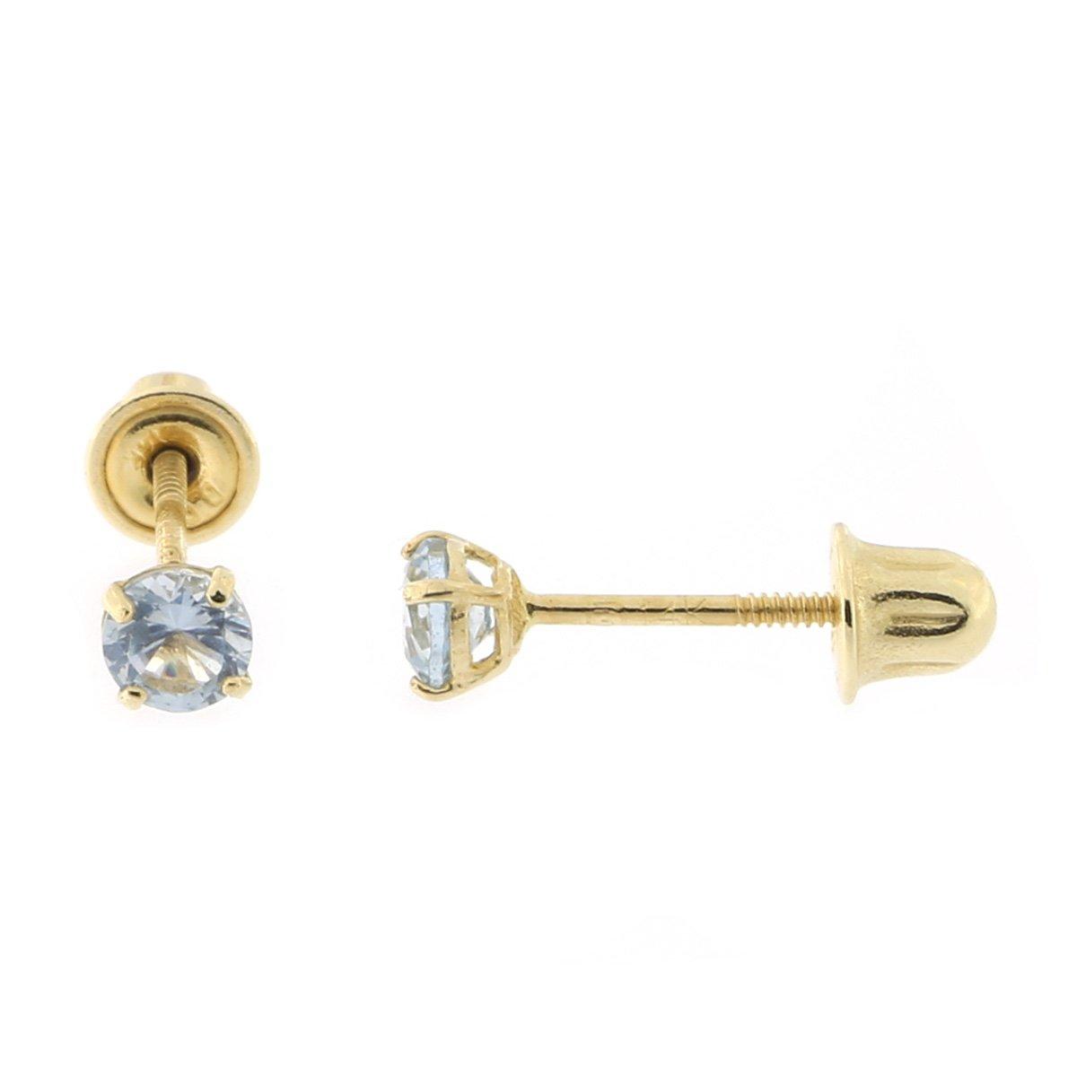 Solid 14k White Gold Cross Screw Back Stud Earrings 8 x 6mm SPARKLING CZS Unisex