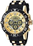 Invicta Men's 'Pro Diver' Quartz Stainless Steel and Polyurethane Diving Watch, Color:Two Tone (Model: 23700)