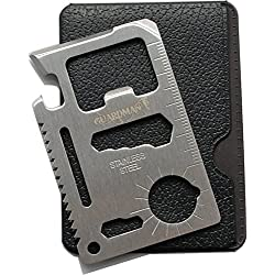 Guardman 11 in 1 Beer Opener Survival Card Tool Fits Perfect in Your Wallet (1) Valentines Day Gifts for Men