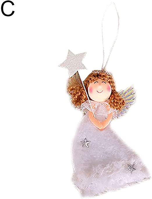 Start Heart Festive Supplies Smile Angel Xmas Tree  Christmas Pendant \