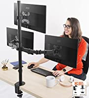 Stand Steady Monitor Arm | Height Adjustable with Full Articulation | VESA Mount Fits Most LCD/LED Monitors 13-32 Inches (3 Monitors)
