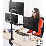 Stand Steady 3 Monitor Desk Mount Stand | Height Adjustable Triple Monitor Stand with Full Articulation and Desk Clamp | VESA Mount Fits Most LCD/LED Monitors 13-32 Inches (3 Arm Clamp)