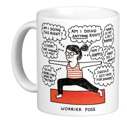 worrier Pose Yoga diseño taza: Amazon.es: Hogar