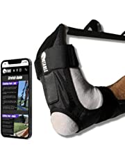 Stable Strength and Recovery Foot and Leg Stretcher Strap to Support Plantar Fasciitis - Stretch Guide - Physical Therapy Stretch Loops for Calf, Ankle, Achilles Tendonitis, and Hamstring Pain Relief