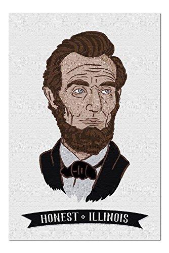 Abraham Icon Lincoln - Honest, Illinois - Abraham Lincoln - Icon (20x30 Premium 1000 Piece Jigsaw Puzzle, Made in USA!)