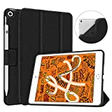 Soke iPad Mini 5 Case 2019 with Pencil Holder, Premium Trifold Case with Strong Protection, Ultra Slim Soft TPU Back Cover with Auto Sleep/Wake Function for New Apple iPad Mini 5th Gen(Black)