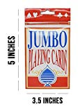 Home-X Jumbo Playing Cards | 3.5 x 5 Inch Plastic