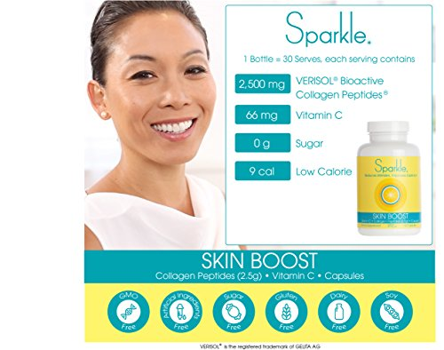 Sparkle Collagen Peptide Supplement Capsules (2 Pack) 30 Days Pills 2500mg Featuring Verisol Bioactive Collagen Peptides,150 Capsules by Sparkle Collagen (Image #8)