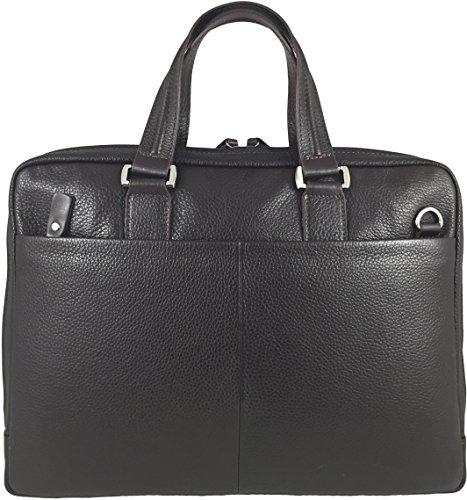 Zavelio Hombres de piel auténtica maletín Messenger de Hombro Portátil Bolsa marrón