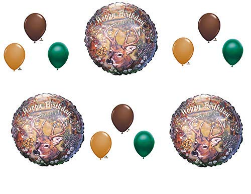 Deer hunting Camouflage Birthday Party Balloons Favors Decorations Supplies]()