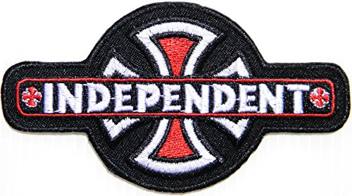 INDEPENDENT Cross Logo Rider Biker Chopper Jacket Patch Sew Iron on Embroidered Badge - Design Logo Eyewear