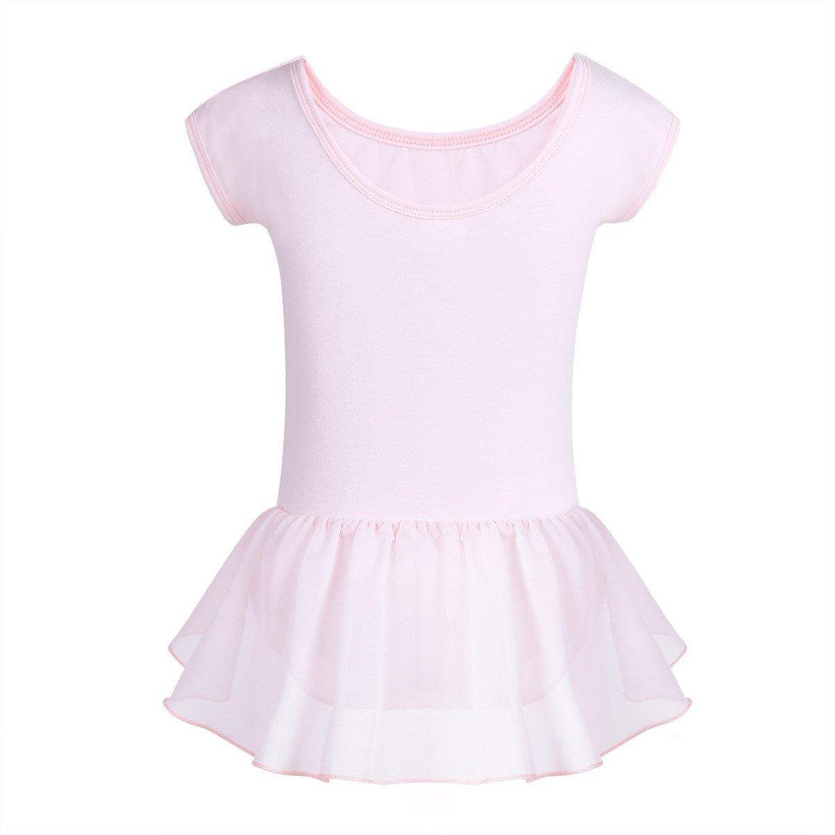 9d84b7f56231 iiniim Kids Girls Chiffon Raglan Cap Sleeves Ballet Dance Gymnastics ...