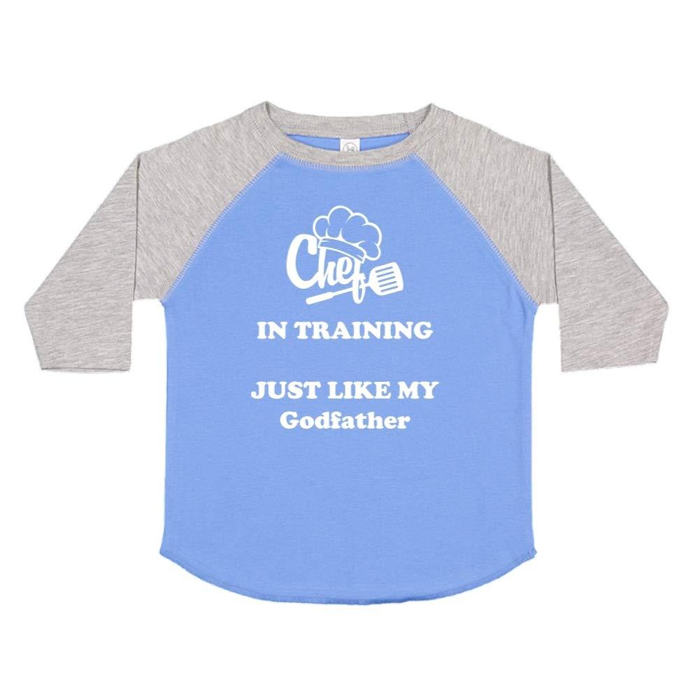 Toddler//Kids Raglan T-Shirt Chef in Training Just Like My Godfather