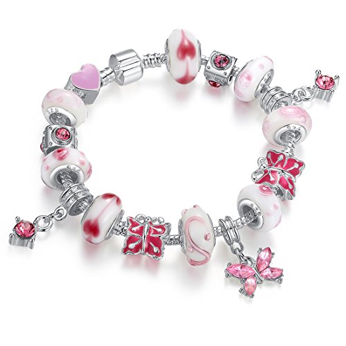 AURORA Charm Bracelet Silver Butterfly product image