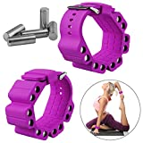 Wrist Weights, Adjustable Fitness Wearable Weighted Wristbands to Increase Arm & Leg Explosiveness and Endurance Training for Dance Barre Pilates Bounce Yoga Cardio Walking and Home Exercise (Purple)