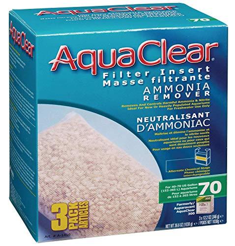 Hagen Aquaclear 70-Gallon Ammonia Remover, 3-Pack 36.6oz