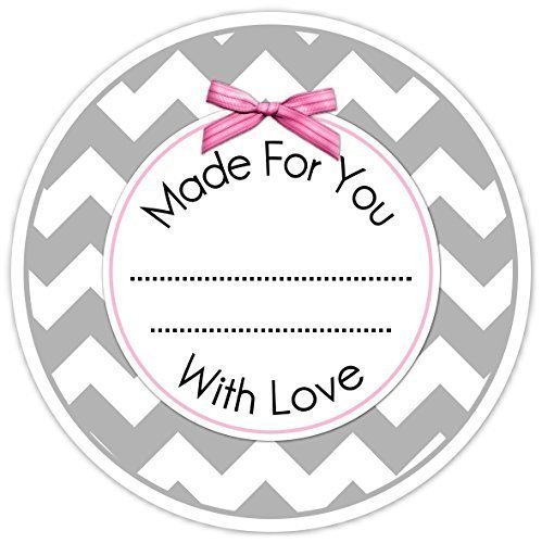 amazon com gray and pink made for you stickers 36 kitchen labels
