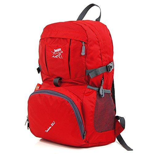 Hongrun Doppel Schulter Rucksack leichte und elegante faltbarer Rucksack wasserdicht Reisen wandern Skin Pack