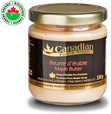 mantequilla de arce natural (pasta sin grasa natural) Canadian Pure and Simple - 330g