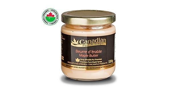 mantequilla de arce natural (pasta sin grasa natural) Canadian Pure and Simple - 330g: Amazon.es: Alimentación y bebidas