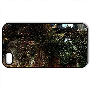some abandoned houses in Turkey - Case Cover for iPhone 4 and 4s (Houses Series, Watercolor style, Black)