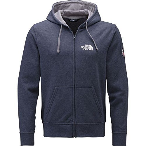 The North Face Men's Usa Full Zip Hoodie Large Cosmic Blue Heather