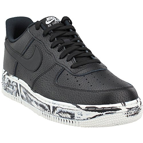 Nike Mens Air Force 1 Low LV8 Marble Basketball Shoes Black/Summit White AJ9507-001 Size 11.5