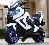 Lvbeis Kids Motorcycle Electric Music Motorbike 12v Battery Children Bike Toddler Toys Car,white