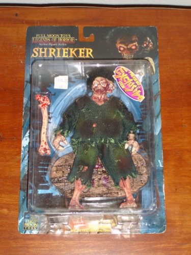 Legends of Horror from the 1998 Full Moon Motion Picture 8 Inch Tall Action Figure - SHRIEKER with Real Cloth Outfit, Rooted Hair, Bone and Display Base (Full Moon Toys)
